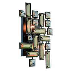 Elegant Lighting Picasso Collection Wall Sconce W:8In. H:12In. E:3.5In. Lt:2 Dark Bronze Fi