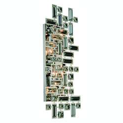 Elegant Lighting Picasso Collection Wall Sconce W:22In. H:9In. E:3.5In. Lt:4 Chrome Finish