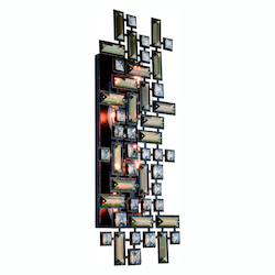 Elegant Lighting Picasso Collection Wall Sconce W:22In. H:9In. E:3.5In. Lt:4 Dark Bronze Fi