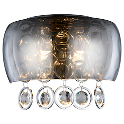 Elegant Lighting Jordan Collection Wall Sconce W:11In. H:7.5In. E:5.5In. Lt:2 Chrome Finish