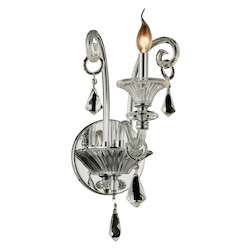 Elegant Lighting Aurora Collection Wall Sconce W:10In. H:20In. E:12In. Lt:1 Chrome Finish