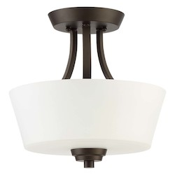 Craftmade 2 Light Convertible Semi Flush