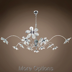 JM Limited Edition Chrome 12 Light Pendant Chandelier