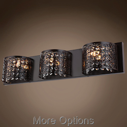 JM Lazer 3 Light Bronze Sconce with Steel Shade
