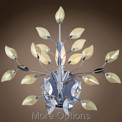 JM Branch Of Light 1 Light Chrome Wall Sconce With Crystals