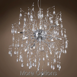 JM Lunasphere 15 Light Polished Chrome Pendant Chandelier