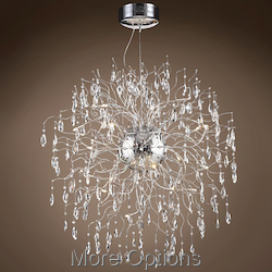 JM Lunasphere 18 Light Polished Chrome Pendant Chandelier