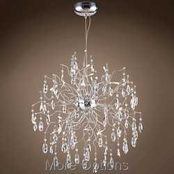 JM Lunasphere 12 Lights Polished Chrome Pendant Chandelier