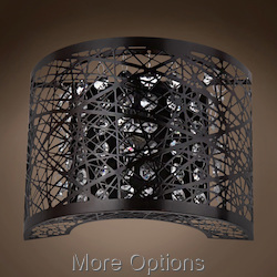 JM Lazer 1 Light Bronze Steel Shade Wall Sconce