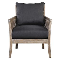 Uttermost Encore Dark Gray Armchair