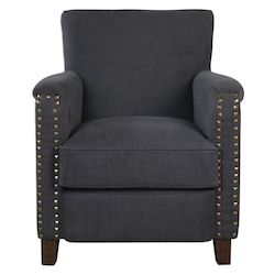 Uttermost Finchly Deep Gray Armchair