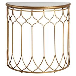 Uttermost Floressa Gold Console Table