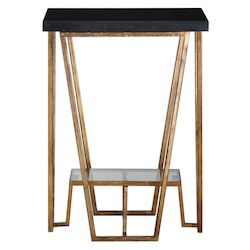 Uttermost Agnes Black Granite Accent Table