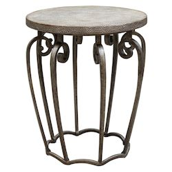 Uttermost Anina Hammered Iron Accent Table