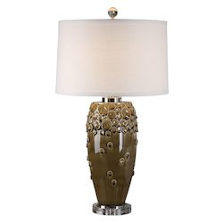 Uttermost Zacapa Brown Ceramic Table Lamp