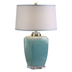 Uttermost Linnae Light Blue Table Lamp