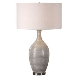 Uttermost Dinah Gray Textured Table Lamp