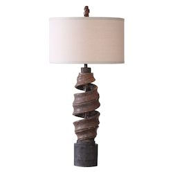 Uttermost Abrose Twisted Table Lamp