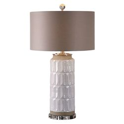 Uttermost Athilda Gloss White Table Lamp