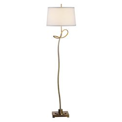 Uttermost Dalia Twisted Gold Floor Lamp