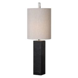 Uttermost Delaney Marble Column Accent Lamp