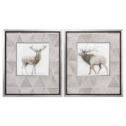 Uttermost Stag And Elk Prints S/2