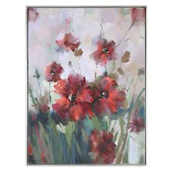 Uttermost Blooming Red Floral Art