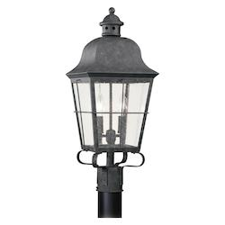 Sea Gull Two Light Outdoor Post Lantern