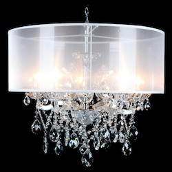 Bethel 10423-C-S Clear Crystal Chrome Metal Light Fixture