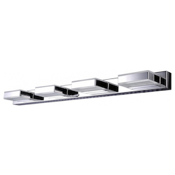 Bethel 2198-4 Frosted Glass  Chrome Metal Light Fixture