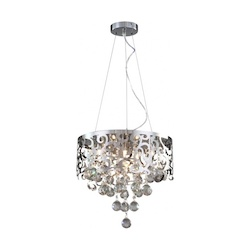 Bethel GL199-16 Clear Crystal Chrome Metal Light Fixture