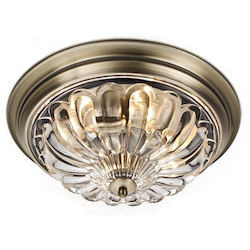 Bethel KC10 Clear Glass Gold Frame Light Fixture