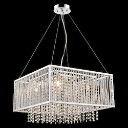 Bethel YS579-5P Clear Crystal Chrome Metal Light Fixture
