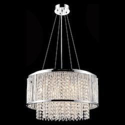 Bethel YS579-6P Clear Crystal Chrome Metal Light Fixture