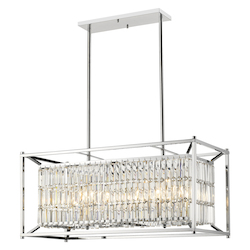 Bethel YS6222-8P Clear Crystal Chrome Metal Light Fixture