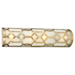 Crystorama 1 Light Aged Brass Bath Fixture