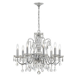 Crystorama Traditional Crystal 8 Light Clear Crystal Chrome Chandelier