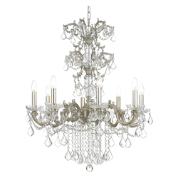 Crystorama Highland Park 8 Light Crystal Olde Silver Chandelier