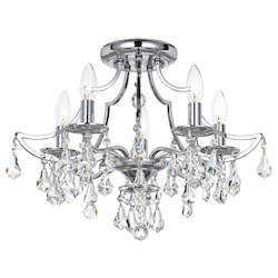Crystorama Cedar 5 Light Swarovski Polished Chrome Ceiling Mount