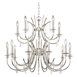 Crystorama Cody 15 Light Crystal Polished Nickel Chandelier