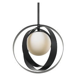 Crystorama Arlo 1 Light Matte Black Mini Chandelier