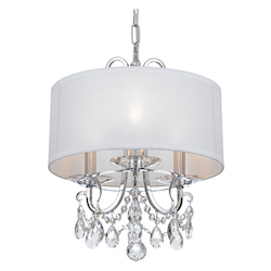 Crystorama Othello 3 Light Clear Spectra Crystal Polished Chrome Mini Chandelier