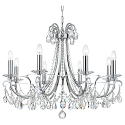 Crystorama Othello 8 Light Clear Swarovski Strass Crystal Polished Chrome Chande