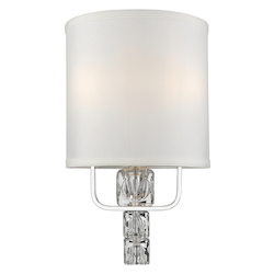 Crystorama Addison 3 Light Polished Chrome Sconce