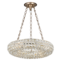 Crystorama Genesis 4 Light Distressed Twilight Chandelier