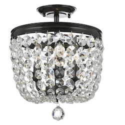 Crystorama Archer 3 Light Crystal Vibrant Bronze Ceiling Mount