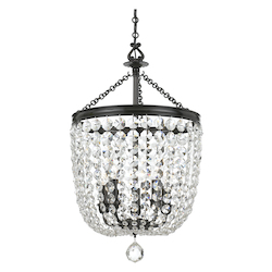 Crystorama Archer 5 Light Spectra Crystal Polished Chrome Chandelier