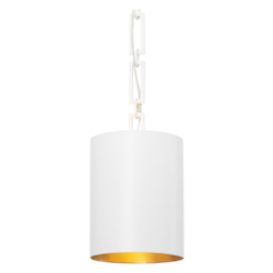 Crystorama Brian Patrick Flynn For Crystorama Alston 1 Light Matte White Mini Chandelier