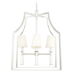 Crystorama Baxter 4 Light Polished Nickel Chandelier