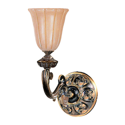 Crystorama 1 Light French White Sconce